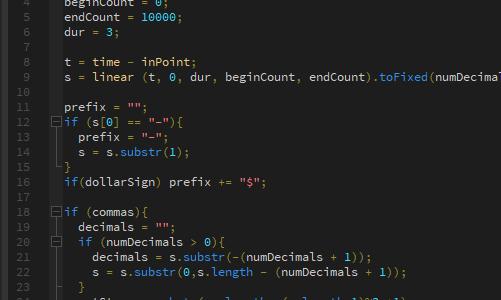 After Effectsで数字をカウントしたい時のエクスプレッション構文のテンプレ